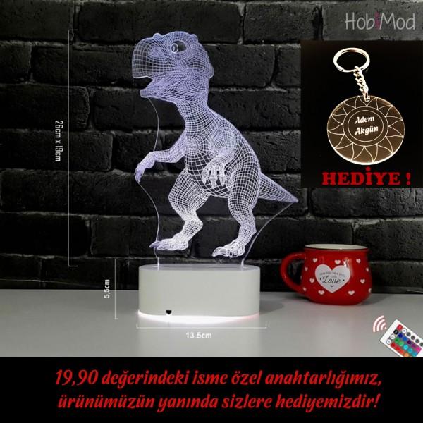 HobiMod 3d 3 Boyutlu Led Masa Gece Lambası Dinazor - hm3dr029